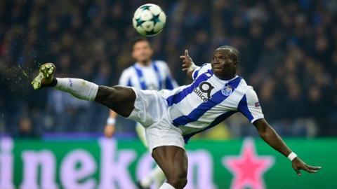 Vincent Aboubakar in action for Porto