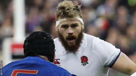 Luke Cowan-Dickie playing for England