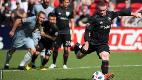 Wayne Rooney scores from the penalty spot for DC United