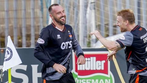 Boyd celebrates his first goal of the season