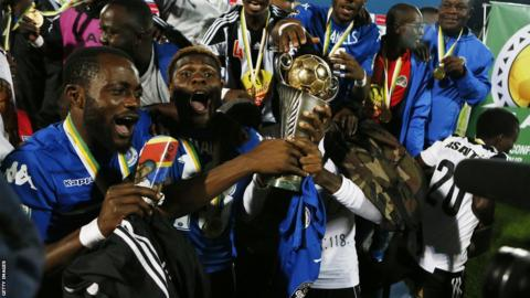 TP Mazembe celebrate winning the 2017 Confederation Cup
