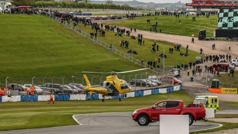 Billy Monger is air-lifted to hospital