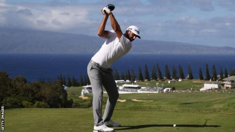 Dustin Johnson leads at Kapalua as Jon Rahm surges into contention
