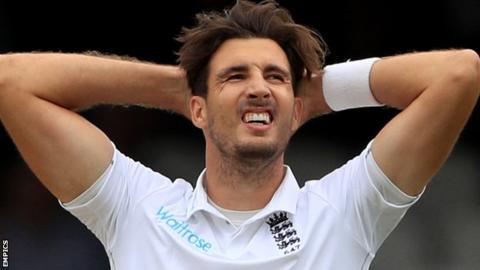 England fast bowler Steven Finn