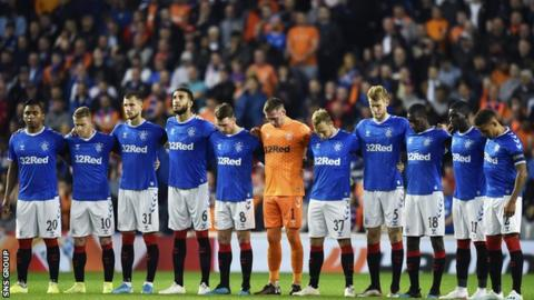 There was a minute's silence at Ibrox in memory of Ricksen