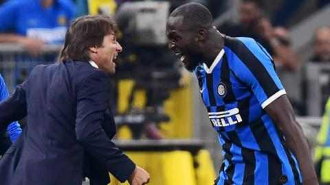 Antonio Conte and Romelu Lukaku