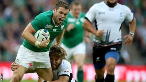 Ireland were also drawn against Romania at the 2015 Rugby World Cup