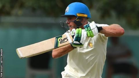 Ben Cox is playing his second game of the new first-class season, having been honoured by an MCC call-up to play champion county Surrey in Dubai in late March