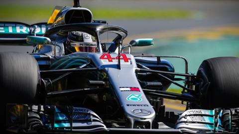 Lewis Hamilton in action at the Australian Grand Prix