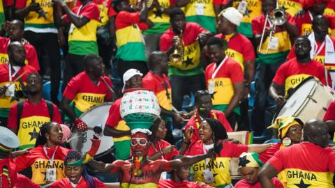 Ghana fans before the 2019 African Cup of Nations match between Ghana and Tunisia at the Ismailia Stadium in Ismailia, Egypt on July 8,2019. (Photo by Ulrik Pedersen/NurPhoto via Getty Images)