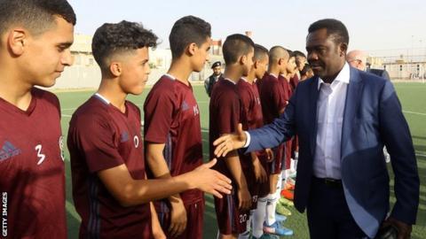 Fifa's Veron Mosengo-Omba in Libya