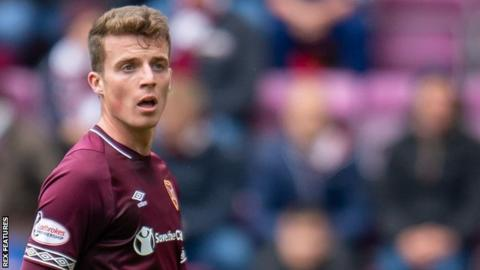 Conor Shaughnessy in action for Hearts
