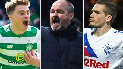 James Forrest, Steve Clarke and Ryan Kent
