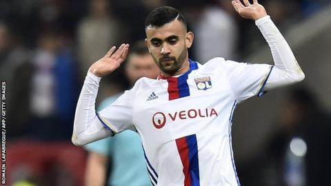 Algeria international winger Rachid Ghezzal