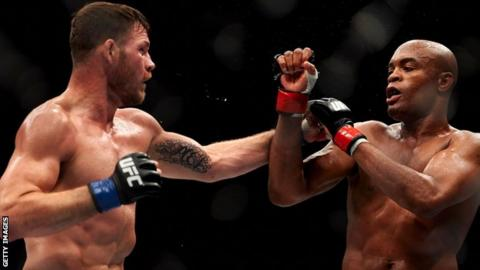 Michael Bisping and Anderson Silva