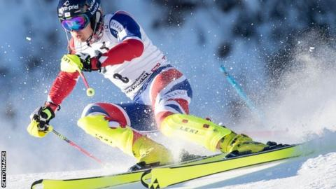 Ryding on his way to a career-best second place in the Kitzbuhel slalom