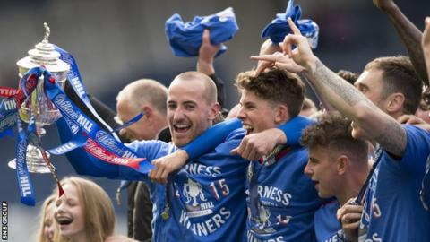 Inverness Caledonian Thistle won the Scottish Cup last season