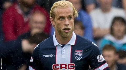 Ross County defender Andrew Davies