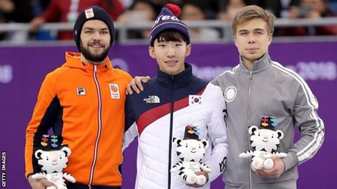 Speed skating medal winners