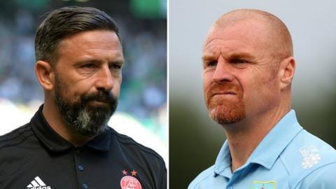 Aberdeen manager Derek McInnes and Burnley counterpart Sean Dyche