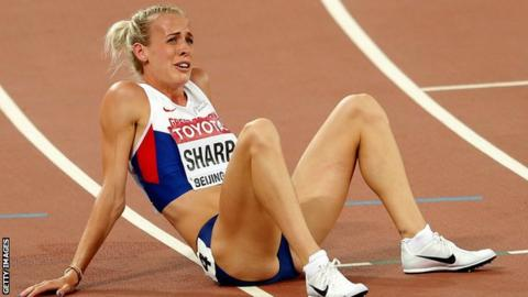 Lynsey Sharp finished eighth in her 800m semi-final