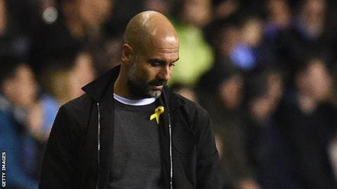Man City boss Guardiola explains yellow ribbon stance