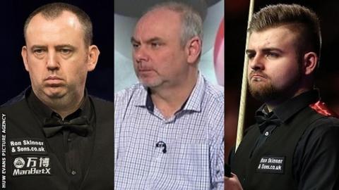 Mark Williams, Darren Morgan and Jackson Page