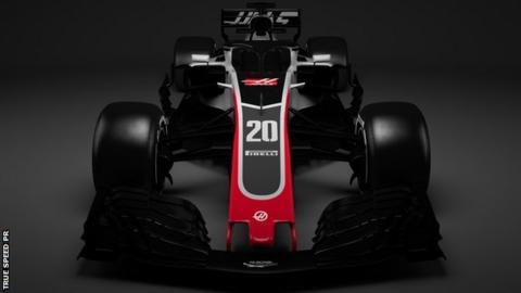 Haas 2018 Formula One car