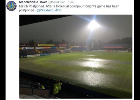 Macclesfield match off tweet