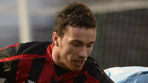 Eamon McAllister during his stint at Crusaders