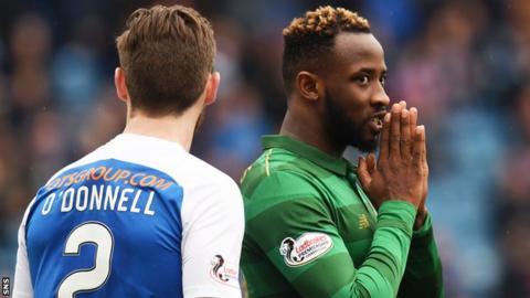 Kilmarnock defender Stephen O'Donnell and Celtic striker Moussa Dembele