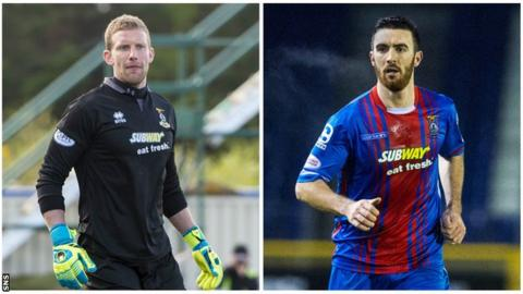 Inverness Caledonian Thistle players Ryan Esson and Ross Draper