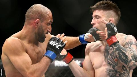 Norman Parke proved too strong for Reza Madadi in Dublin