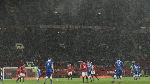 Rain at Old Trafford