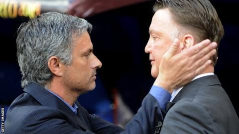 Jose Mourinho and Louis van Gaal