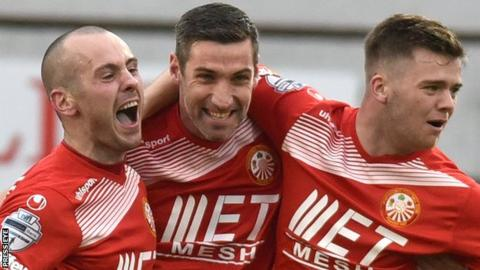 Portadown beat Ards last week but lost the points because one of their players was suspended