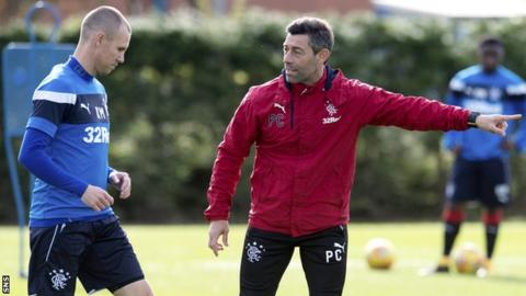 Rangers striker Kenny Miller and manager Pedro Caixinha