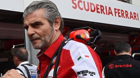 Ferrari team boss Maurizio Arrivabene