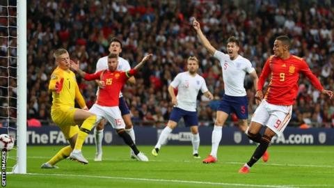 England 1 2 Spain Hosts Lose Nations League Opener At Wembley Bbc
