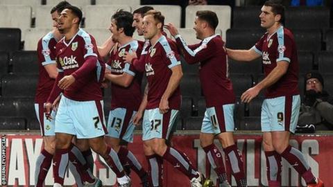 Burnley celebrate a goal
