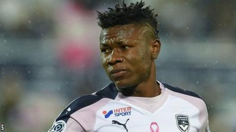 Samuel Kalu in action for French side Bordeaux