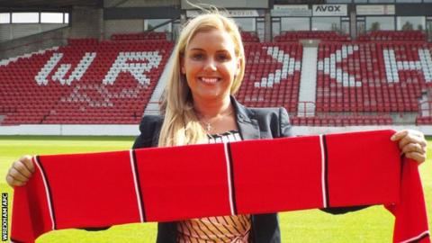 Rhiannon Roberts, Wrexham's new commercial manager
