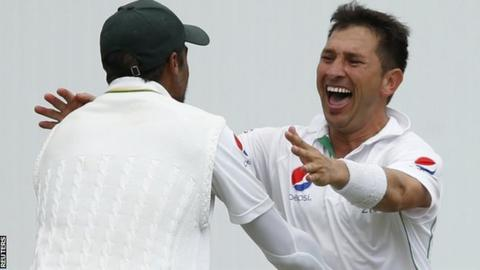 Yasir Shah now has 25 wickets in three Tests against England