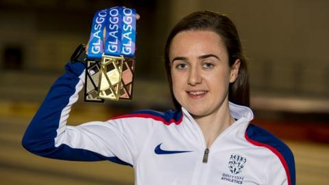 Laura Muir shows off the European medals crafted by Glasgow School of Art graduate Andrew Fleming