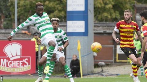 Moussa Dembele scores for Celtic against Partick Thistle