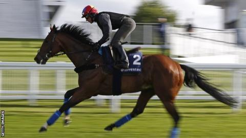 Frankie Dettori and Cracksman at the Epsom Derby