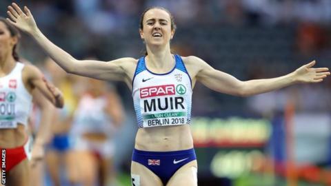 Laura Muir wins the European Championships 1500m final