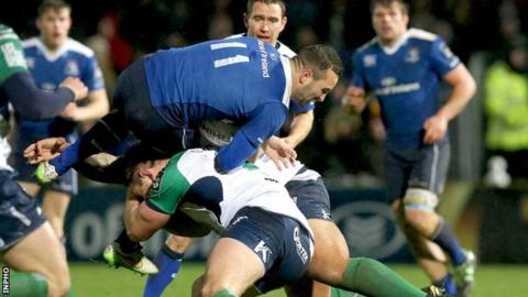 Connacht hooker Tom McCartney produced a big hit on Leinster wing Dave Kearney