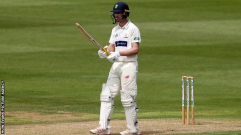 Opener Nick Selman fell early in Glamorgan's reply at Worcestershire