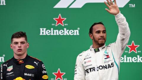 Max Verstappen and Lewis Hamilton